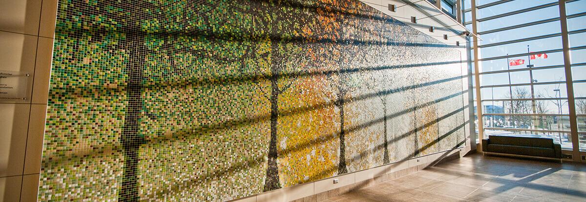 Mosaic Tile Hospital Lobby Mural Art